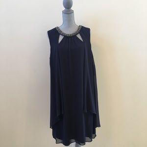 BNWT! Blue Gown with Beaded Neckline 18W